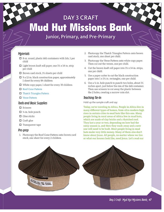 Mud Hut Missions Bank