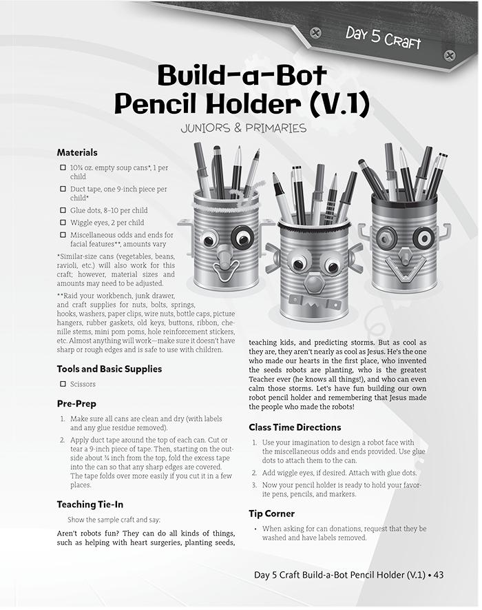 Build-a-Bot Pencil Holder