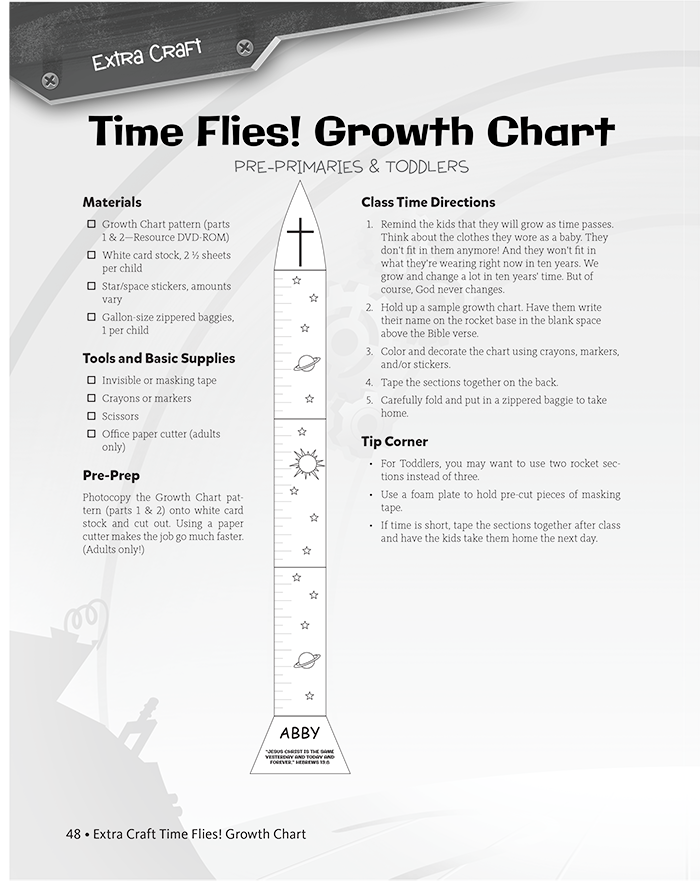 Time Flies! Growth Chart