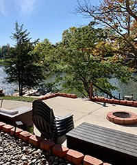 Lakefront with Dock & Firepit