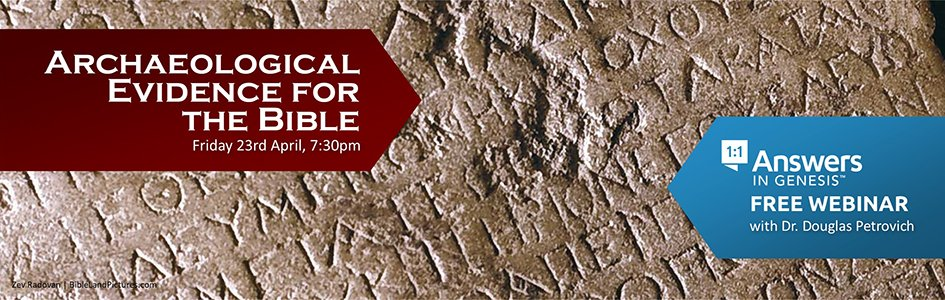 Archaeological Evidence for the Bible (Webinar)