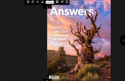Answers Magazine Viewing
