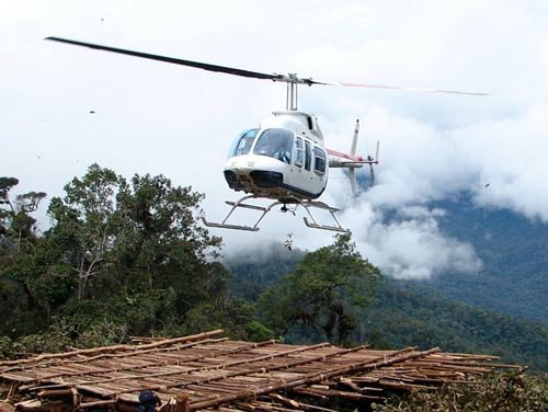 Missionary helicopter