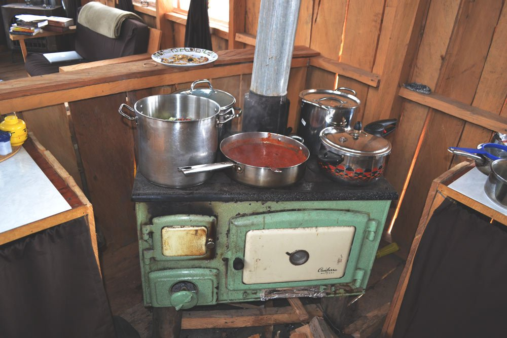 This woodstove heats our house and cooks our food