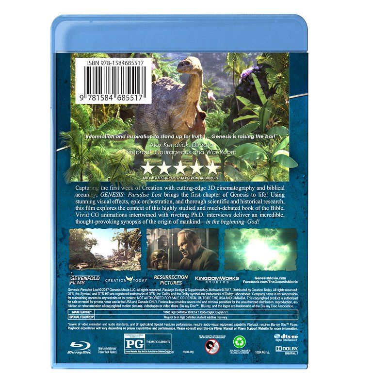 3D Blu-Ray Back Cover