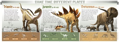 Pull-out dinosaur poster