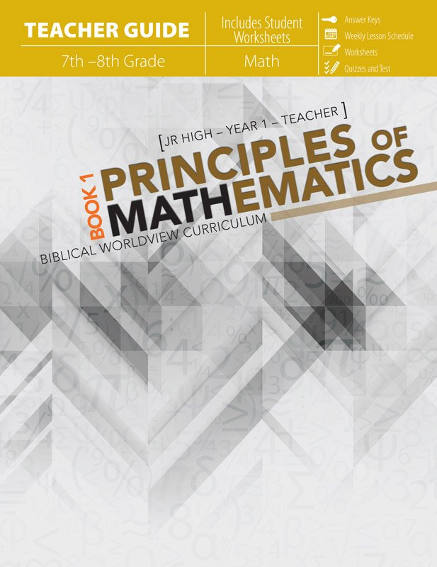 Principles of mathematics book 1 teachers guide answers in genesis principles of mathematics book 1 teachers guide fandeluxe Choice Image