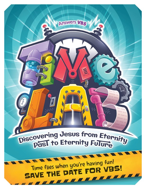 time lab vbs  save the date postcard