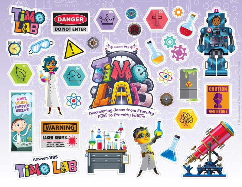 Time Lab Vbs Logo Clip Art Sticker Sheet