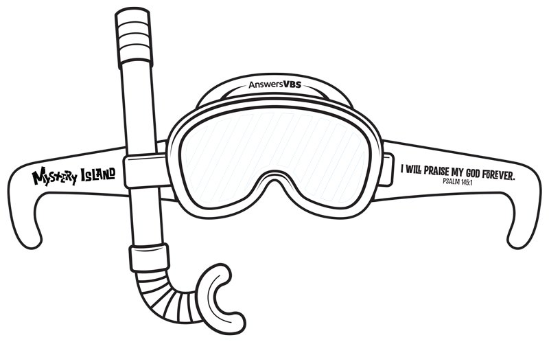 Mystery Island Vbs Snorkel Mask Paper Cutout