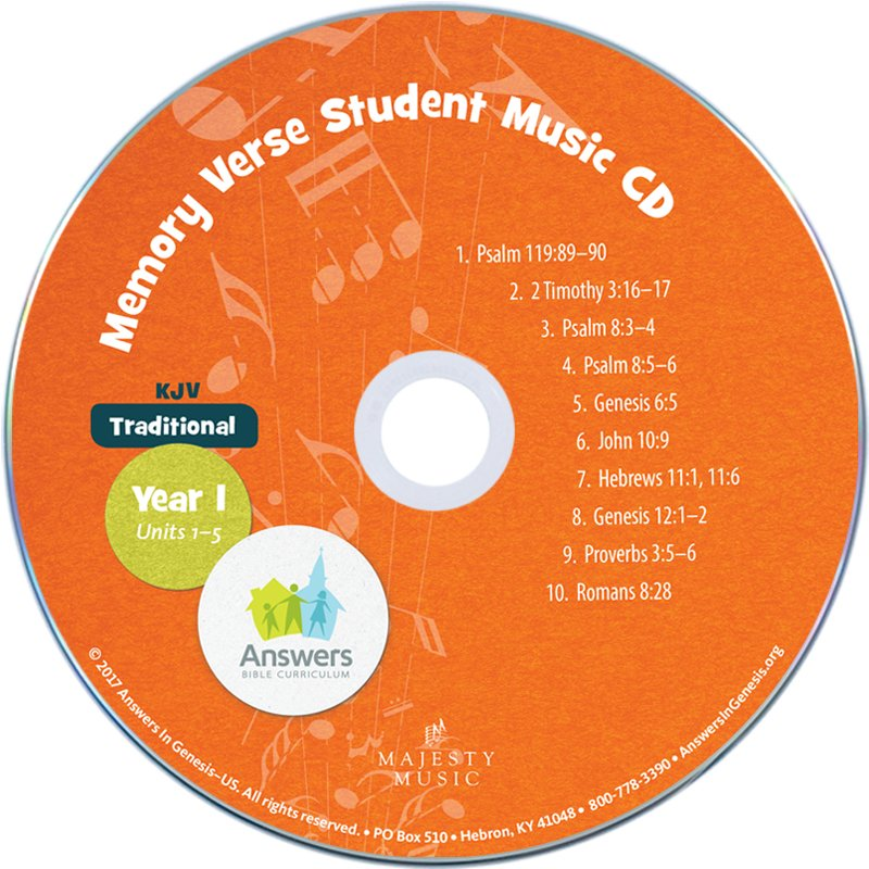 ABC: Traditional Memory Verse Student Music CD Units 1-5