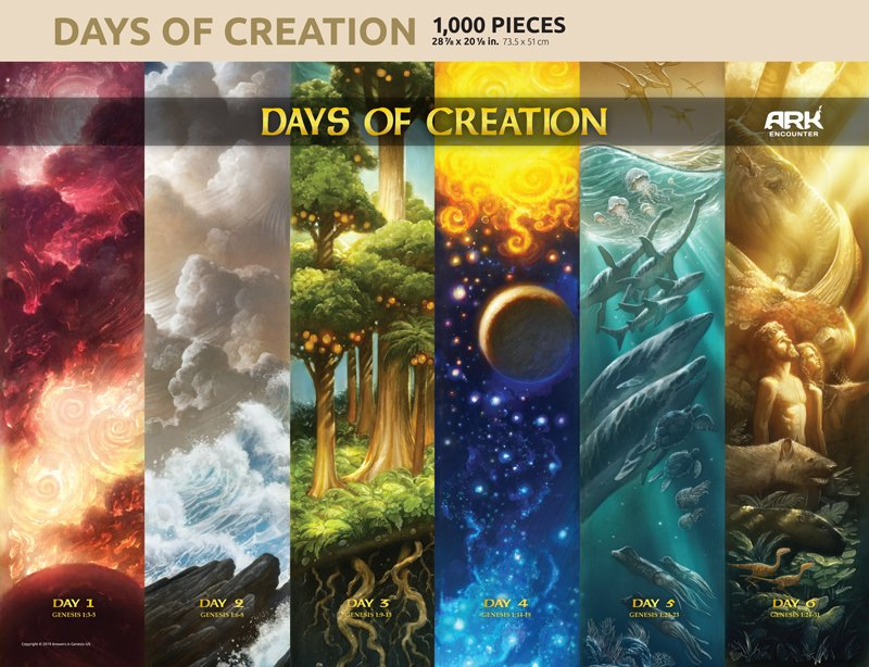 Ark Encounter Days of Creation Puzzle (Gift)   Answers in Genesis