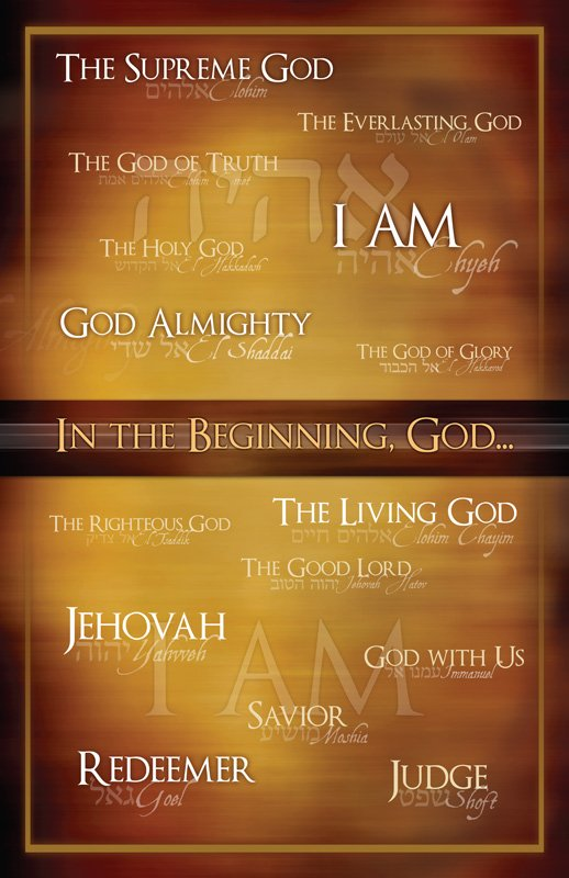 Names Of God Poster Answers In Genesis