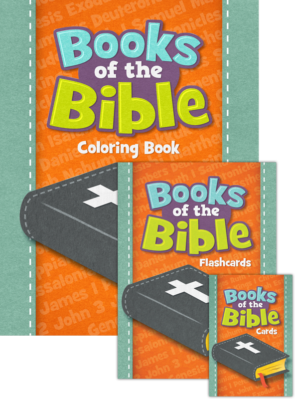 Books of the Bible: Coloring Book, Flashcards and Trading Cards Pack ...