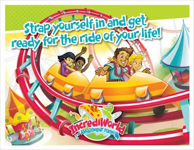 IncrediWorld VBS: Invitation Postcards