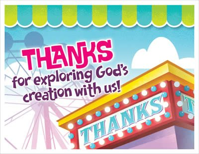IncrediWorld VBS: Thanks for Coming Postcards