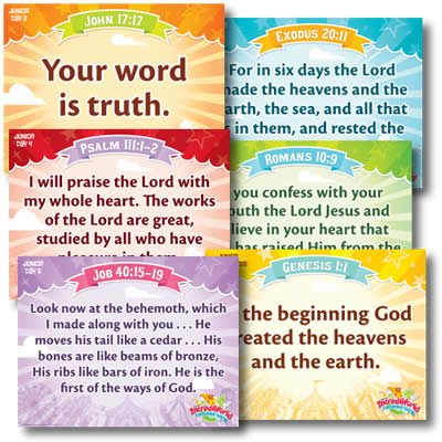 IncrediWorld VBS: Junior Memory Verse Posters: NKJV