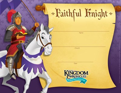 Kingdom Chronicles VBS: Certificates of Completion: Pack of 10