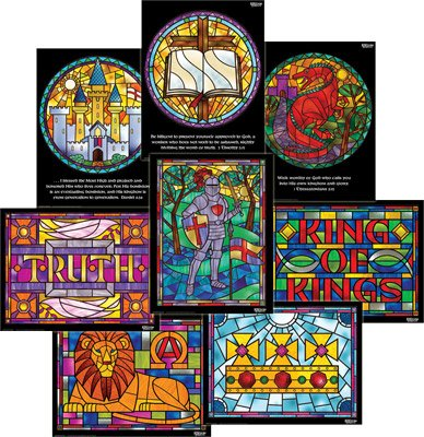 Kingdom Chronicles VBS: Stained Glass Posters