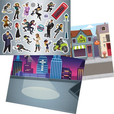 International Spy Academy VBS: Spy on the Street Sticker Sheet and Picture