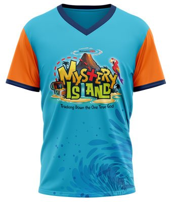 Mystery Island VBS: Athletic T-Shirt: Adult Medium