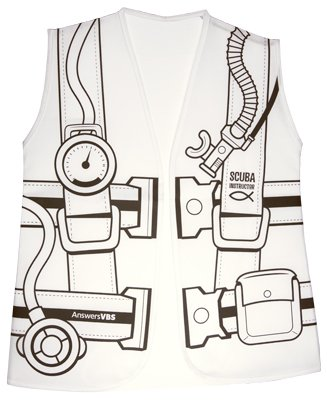 Mystery Island VBS: Kid's Color-in Dive Vest