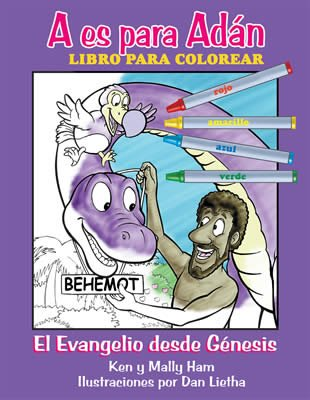 A is for Adam Coloring Book (Spanish)