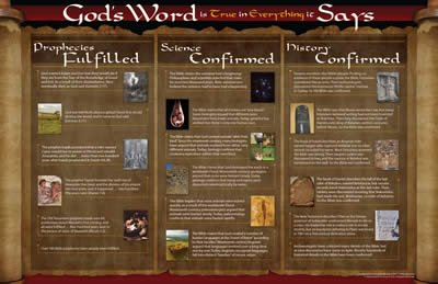 God's Word Is True Wall Chart: PDF download