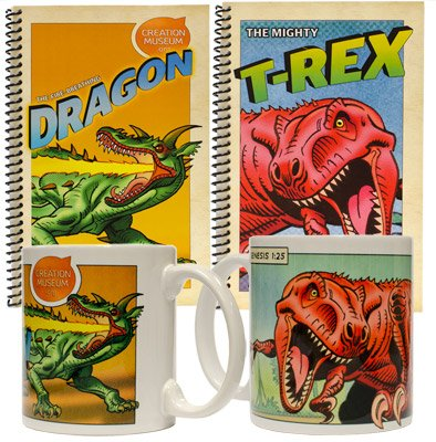 Dinosaur Mugs and Journals: T-Rex and Dragon