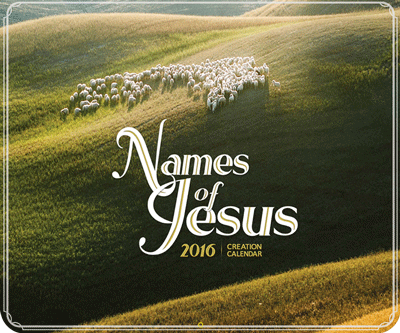 2016 Calendar: Names of Jesus