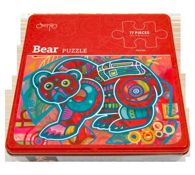 Oscar Kids Bear Puzzle in Tin