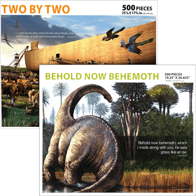 Jigsaw Puzzle Set: Behemoth and Two by Two