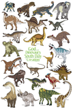 Dinosaurs on the Sixth Day Poster: Green