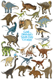 Dinosaurs on the Sixth Day Poster: Blue