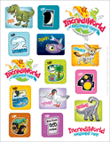 IncrediWorld VBS: Logo Sticker Sheet