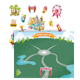 IncrediWorld VBS: Amazement Park Sticker Sheet with Picture