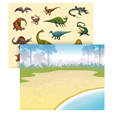 IncrediWorld VBS: Dinosaur Sticker Sheet with Picture