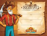 Gold Rush VBS: Staff Appreciation Certificate: Pack of 10
