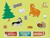 Gold Rush VBS: Sticker Sheets: Camp site sticker sheets (pack of 10)