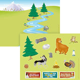 Gold Rush VBS: Sticker Sheets: Camp site sticker sheet & picture (pack of 10 sets)