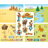 Gold Rush VBS: Sticker Sheets: Sticker variety pack (pack of 9)