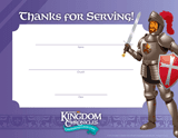 Kingdom Chronicles VBS: Staff Appreciation Certificates: Pack of 10