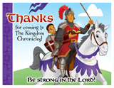 Kingdom Chronicles VBS: Thanks for Coming Postcards