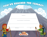 Camp Kilimanjaro VBS: Certificate of Completion