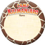Camp Kilimanjaro VBS: Name Button