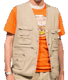 Camp Kilimanjaro VBS: Leader Vests: Adult Small with Patch