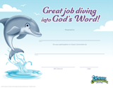 Ocean Commotion VBS: Completion Certificates