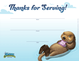 Ocean Commotion VBS: Staff Appreciation Certificates