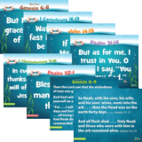 Ocean Commotion VBS: Junior Memory Verse Posters