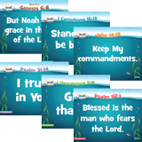 Ocean Commotion VBS: Toddler Memory Verse Posters